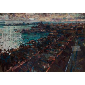arthur maderson overlooking venice oil painting on board