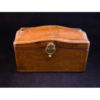 dome top leather jewellery box