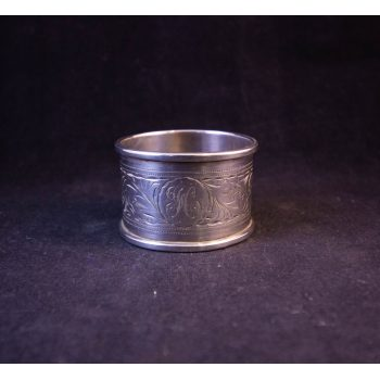 """Silver napkin ring, engraved """"H"""". Stamped Birmingham 1911. Price includes nationwide delivery."""