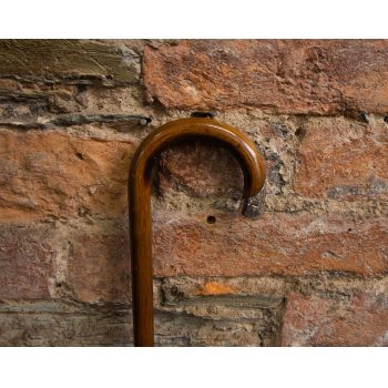 """Hoop top walking stick with silver tip. Measures 33"""" high Price includes nationwide delivery"""