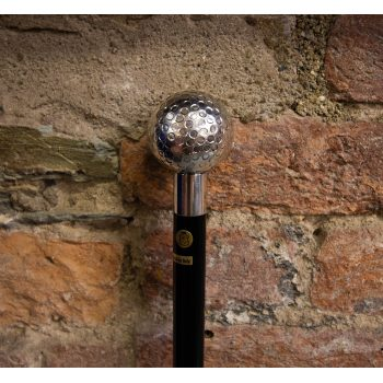"""Silver golf ball top walking stick. Measures 36"""" Price includes nationwide delivery"""