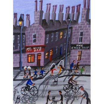 "John Ormsby ""Wine Bar"" watercolour painting. Frame measures 62 x 52cm, painting measures 24 x 34cm. Price includes nationwide delivery."