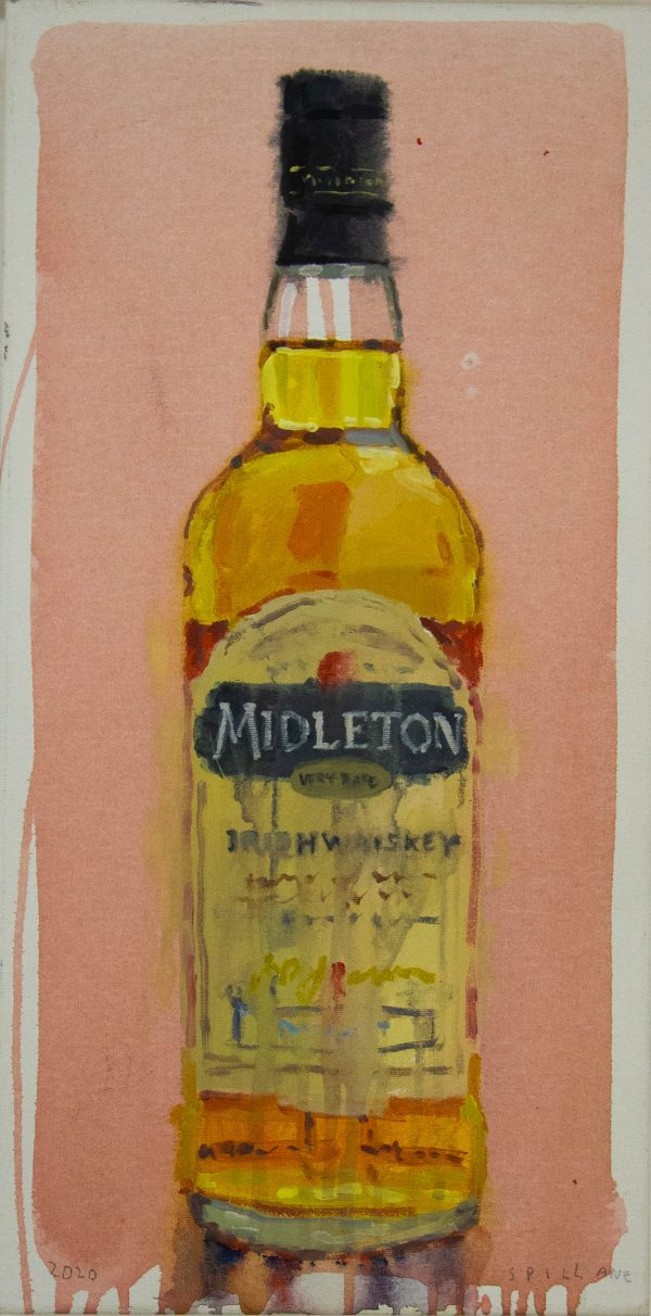 Spillane Midleton Whiskey mixed media painting on canvas. Frame measures 44cm x 76cm, painting measures 30cm x 60cm. Price includes nationwide delivery