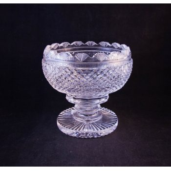 waterford crystal cut glass footed bowl