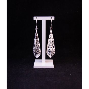 Silver filigree drop earrings Price includes nationwide delivery