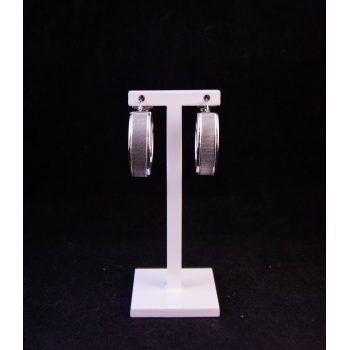 Silver hoop earrings with clip back. Price includes nationwide delivery