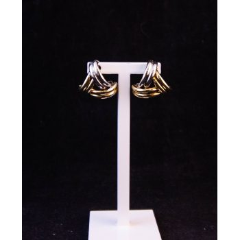 9k yellow and white gold stud earrings Price includes nationwide delivery