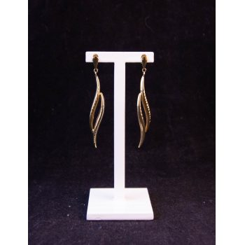 9k yellow gold drop earrings Price includes nationwide delivery
