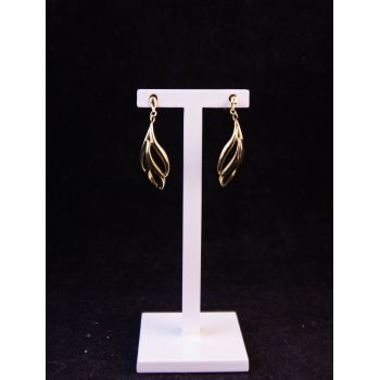 9k yellow gold drop leaf shaped earrings. Very delicate. Price includes nationwide delivery