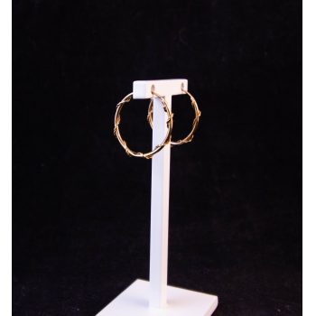 9k yellow gold hoop earrings with wrapped twist decoration Price includes nationwide delivery
