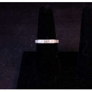 Platinum full eternity diamond ring. Size Q Price includes nationwide delivery