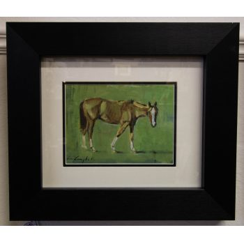 con campbell horse study oil painting