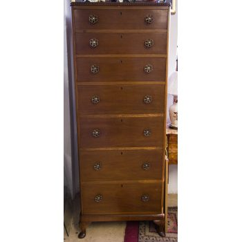 mahogany7 drawer tallboy chest of drawers