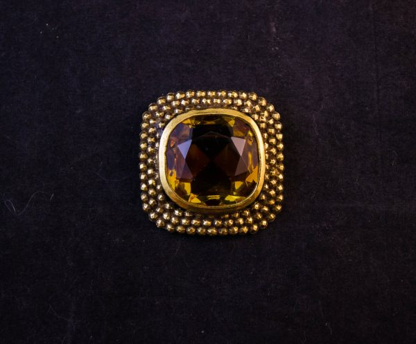 Gold plated Accessocraft NYC costume brooch