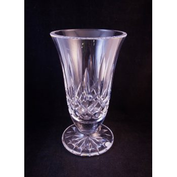 """Modern Waterford Crystal cut glass footed vase. Measures 8.5""""H"""