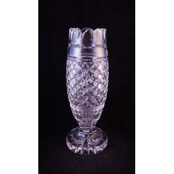 "Waterford Crystal cut glass 10"" footed vase"