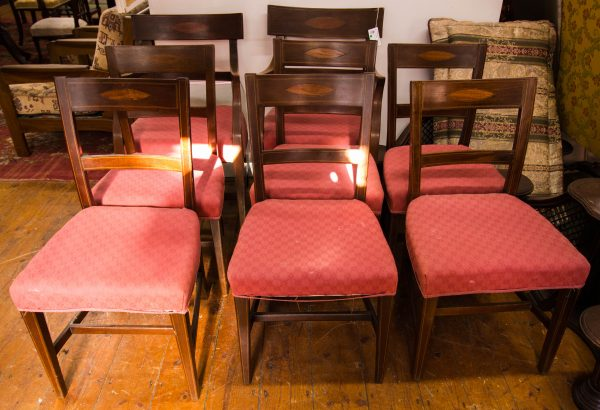 inlaid dining chairs