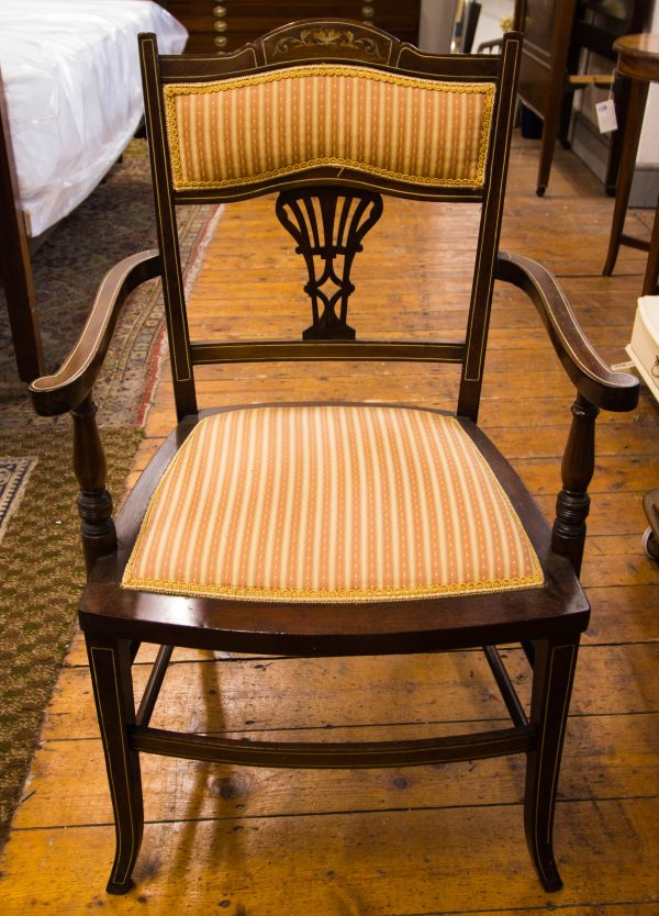 inlaid elbow chairs