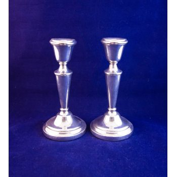 "Pair of 6"" high silver candlesticks. Stamped Birmingham 1972"