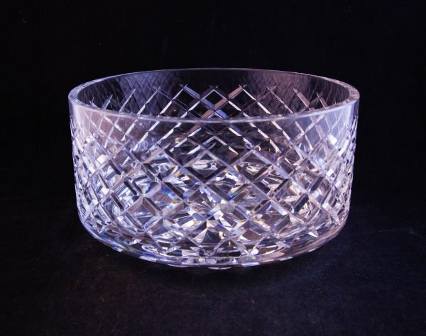 "Waterford Crystal cut glass salad bowl. Measures 7""W x 4""H"