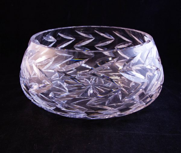 "Waterford Crystal cut glass salad or fruit bowl. Measures 9""W x 4""H"
