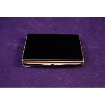 silver and onyx card box