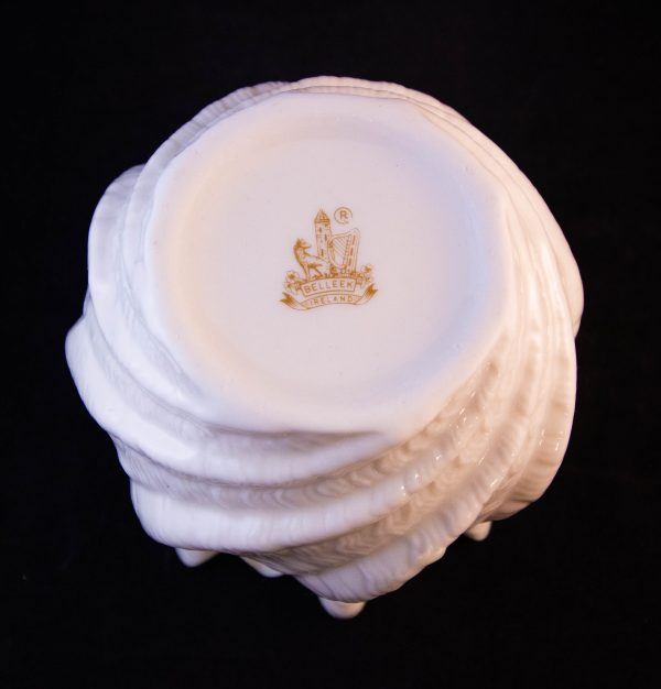"""Belleek brown mark vase. Measures 4.5""""H x 5""""W. Price includes nationwide delivery"""