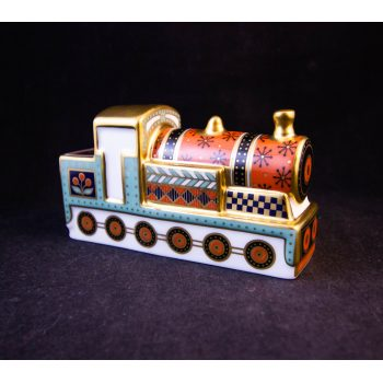 "Royal Crown Derby Treasures of Childhood steam train ornament in box. Measures 4""L x 2.25""H Price includes nationwide delivery"