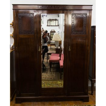 mahogany mirror door wardrobe