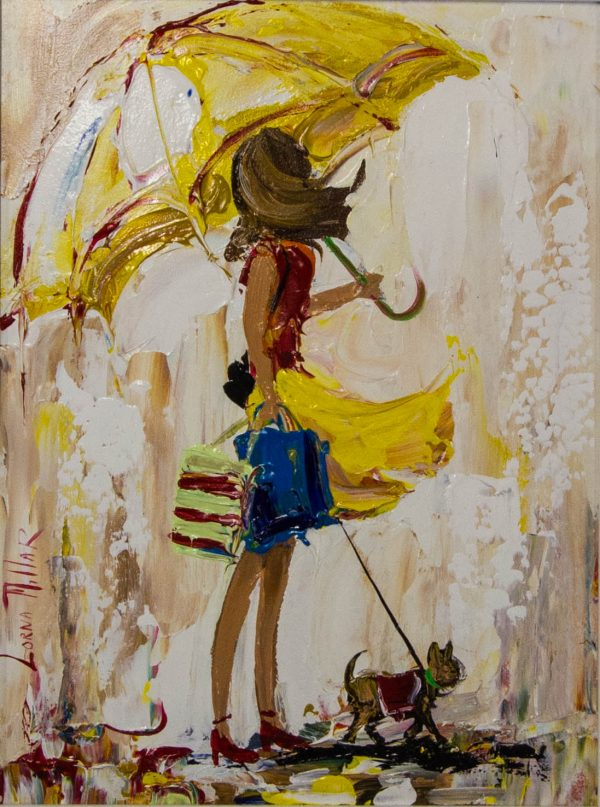 lorna millar walkies oil painting on board