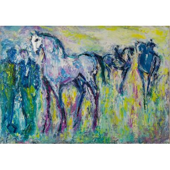 declan o connor horses oil painting on canvas