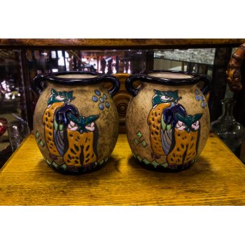 pair of amphora vases