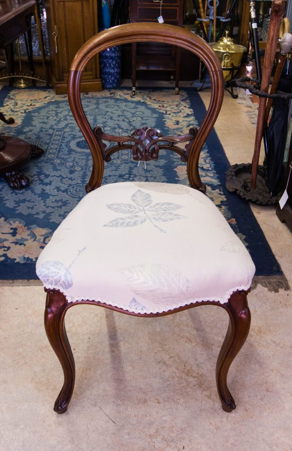 victorian mahogany occasional chair